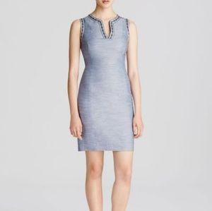 NYDJ Blue Colleen Ribbon Shift Denim Dress